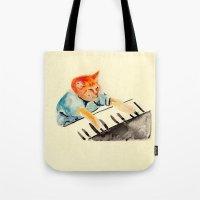 Watercolour Keyboard Tote Bag