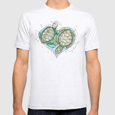 Turtle Love Mens Fitted Tee Ash Grey SMALL