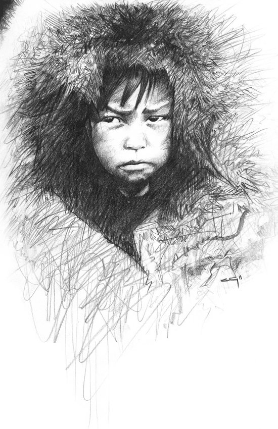 Inuit Boy Art Print