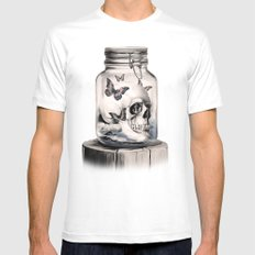 Lost thoughts White SMALL Mens Fitted Tee