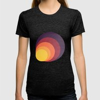 Colors Womens Fitted Tee Tri-Black SMALL