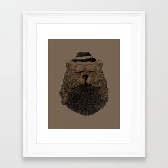 Grizzly Beard Framed Art Print
