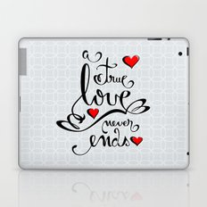 Valentine Love Calligraphy and Hearts Laptop & iPad Skin