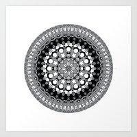 Octagon Rosette 003 | Mo… Art Print