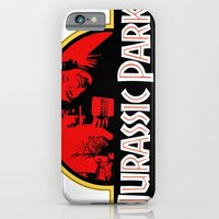 iPhone Cases featuring Jurassic Partridge by Aaron Carberry