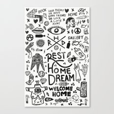 REST HOME DREAM Canvas Print