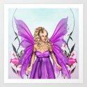Fairy Queen Diane Flower Garden Art Print