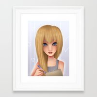 Framed Art Print featuring Namine.  by Mickey Spectrum