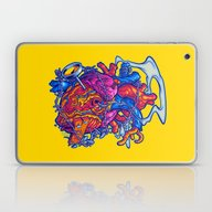 Laptop & iPad Skin featuring BUSTED HEART by BeastWreck