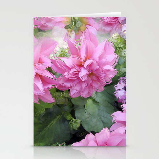 Delicious Dahlia's Stationery Card