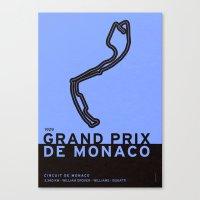 Legendary Races - 1929 Grand Prix de Monaco Canvas Print
