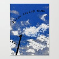 Birds Flying High Canvas Print
