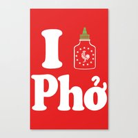 I Heart Pho Canvas Print