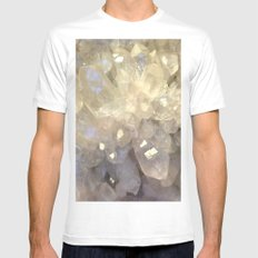 crystal2 Mens Fitted Tee SMALL White