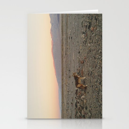 Desert Coyote Stationery Card