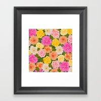 SMELL THE ROSES: -roses … Framed Art Print
