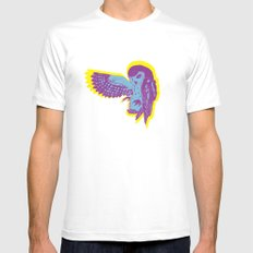 Saw-Whet Owl Mens Fitted Tee White SMALL