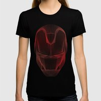 Iron Man Womens Fitted Tee Black SMALL