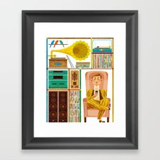50 Records Framed Art Print