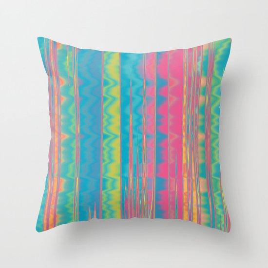Crazy Colors.  Throw Pillow