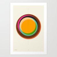 FUTURE GLOBES 001 Art Print