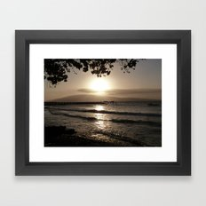 Ocean Sunset Tranquility Framed Art Print