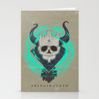 A KING IN DEATH Stationery Cards