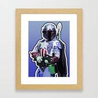 Captain Fett Framed Art Print