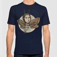 MOTH LADY Mens Fitted Tee Navy SMALL