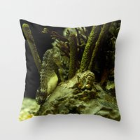 Aquatic Steed Throw Pillow