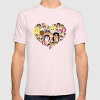 Love Princesses Mens Fitted Tee Light Pink SMALL