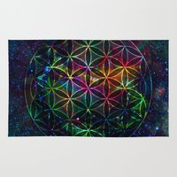 Flower of Life in the Universe - Universe in the Flower of Life Rug