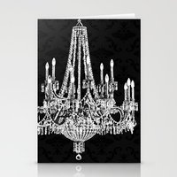 Black and White Chandelier Stationery Cards