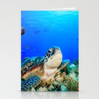 UNDER THE SEA - TURTLE Stationery Cards