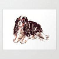 Sweet Spaniel Art Print