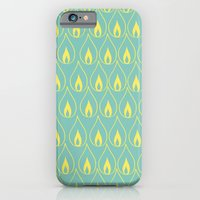 iPhone & iPod Case featuring Yellow Flame by fable design