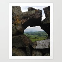 Rock Wall Window Art Print