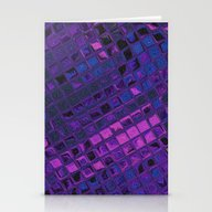 Blue Lilac Decorative Sq… Stationery Cards