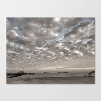Caught In Between A Pier… Canvas Print