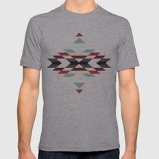 NAVAJO PRINT Mens Fitted Tee Athletic Grey SMALL