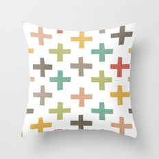 HIPSTER CROSSES PATTERN Throw Pillow