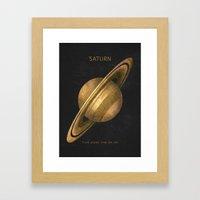 Saturn Framed Art Print