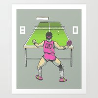 The Ping Pong Championships of '82 Art Print