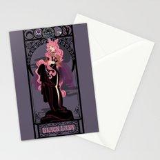 Black Lady Nouveau - Sailor Moon Stationery Cards
