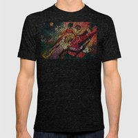 Moonage Daydream Mens Fitted Tee Tri-Black SMALL