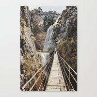 The Bridge. Retro Canvas Print