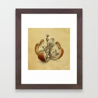 Steampunk Orange (sepia) Framed Art Print
