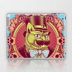 Hipster Mustache Cat Laptop & iPad Skin