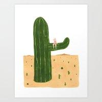 Cacti Princess Art Print