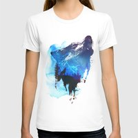 wolf T-shirts featuring Alone as a wolf by Robert Farkas